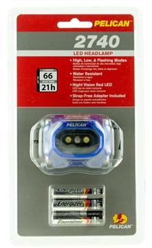 Picture of Pelican  2740 Headlamp Gen 2 66 Lumens Aaa (3) Blue