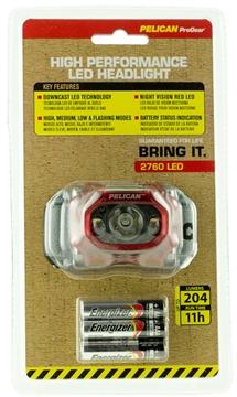 Picture of Pelican  2760 Headlamp Gen 2 204/141/95/42 Lumens Aaa (3) Red/Black