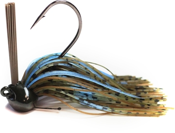 Picture of Perfection Lures Football Jig 1/2 Oz, Green Pumpkin Blue Crawl 1Pk