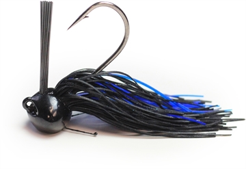 Picture of Perfection Lures Football Jig 1 Oz, Black & Blue Crawl 1Pk