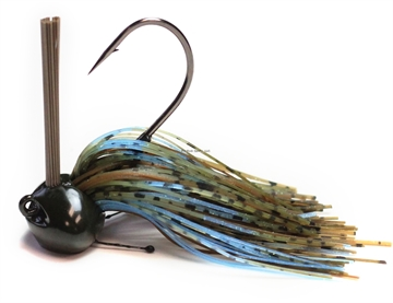 Picture of Perfection Lures Football Jig 1 Oz, Green Pumpkin Blue Crawl 1Pk
