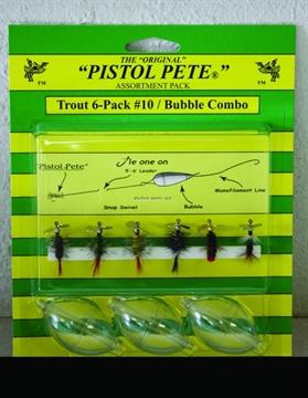 Picture of Pistol Pete Trout Bubble Combo Kit, SZ 10, 6/Pack