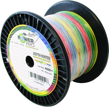 Picture of Power Pro Depth-Hunter Braided Fishing Line Metered 100Lb 1500Ft 500 YD Multi-Colored