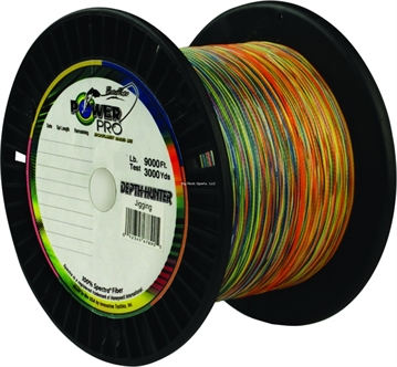 Picture of Power Pro Depth-Hunter Braided Fishing Line Metered 150Lb 9000Ft 3000 YD Multi-Colored