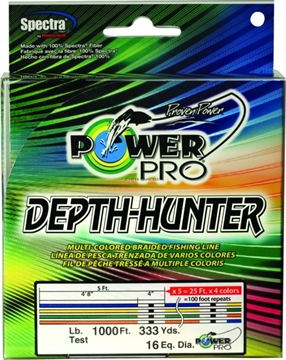Picture of Power Pro Depth-Hunter Braided Fishing Line Metered 30Lb 1000Ft 333 YD Multi-Colored