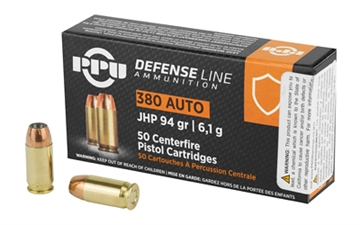 Picture of Ppu 380Acp Jhp 94Gr 50/1000