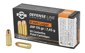 Picture of Ppu 9Mm Jhp 115Gr 50/1000