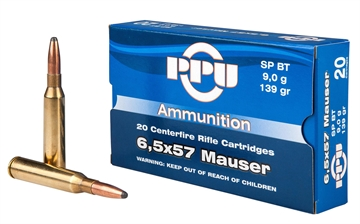 Picture of Ppu Pp30063 Metric Rifle 6.5X57mm Mauser 139 GR Soft Point Boat Tail 20 Bx/ 10 CS