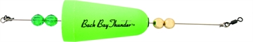 """Picture of Precision Tackle Back Bay Thunder 2-3/4"""" Wghted Cone Green"""