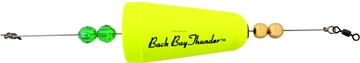 """Picture of Precision Tackle Back Bay Thunder 2-3/4"""" Wghted Cone Yellow"""