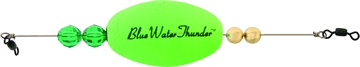 """Picture of Precision Tackle Blue Water Thunder 2.5"""" Wghted Oval Green"""