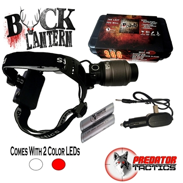 Picture of Predator Tactics Buck Lantern Headlight Kit - Red & White Leds, Adjustable Focus, 2 Colors, 3 Modes, Rechargeable