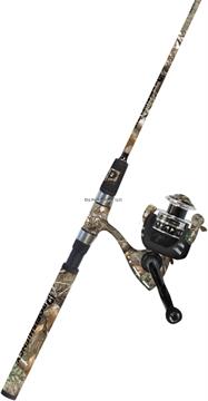 """Picture of Profishiency 2 PC 6'8"""" Spinning Combo, Medium Action Rod, Soft Padded Grips IN Camo, 5.2:1 Gear Ratio, 8+1 Ball Bearings"""
