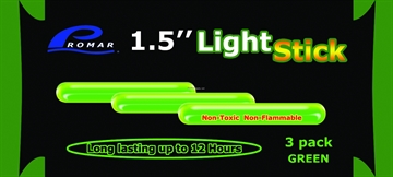 """Picture of Promar 1.5"""" Light Glow Stick - Green 3Pk, 50 Pack Display Box"""
