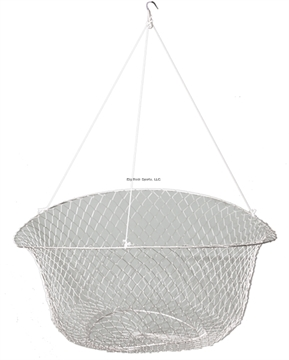 """Picture of Promar 2 Ring Wire Crab/Crawfish Net 18"""" Top Ring, 8"""" Bottom Ring (3 Assorted Colors)"""