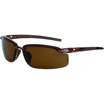Picture of Crossfire Protective Eyewear Fortitude Crystal Brown Frames HD Brown-Polarized Lens