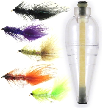Picture of Rainbow 1/4Oz Clear A-Just-A-Bubble, 5 Woolly Bugger  Flies Assorted