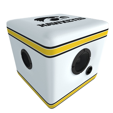 Picture of Rainmaker Iowa Hawkeyes Bluetooth Speaker Ottoman-White/Blk