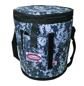 Picture of Raw Accessories Usa Digital Blue Camo Insulated Bait Bucket, W/ Padded Carrying Strap
