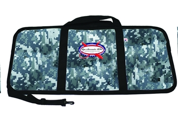 """Picture of Raw Accessories Usa Digital Blue Insulated Fish Bag, W/ Stainless Steel Zipper Pull W/ Strap & Pkt 30""""X14"""""""