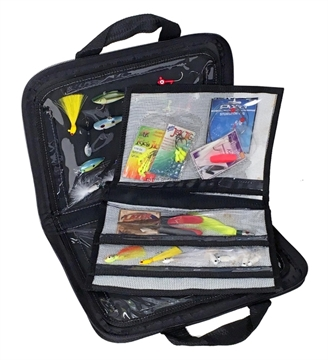 Picture of Raw Accessories Usa Digital Blue Soft Sided Tackle Bag W/ 1-3 Pkt Mesh Insert And Closed Cell Foam Inside Panels For Storing Hard Baits