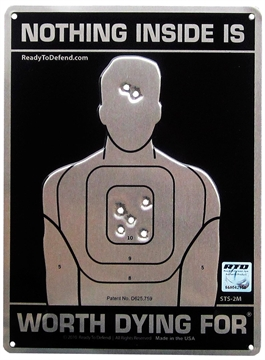 Picture of Ready TO Defend/Cogent Sts2m Embossed Yard Sign Silhouette Series Sign Black/White