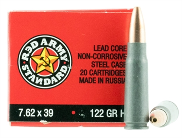 Picture of Red Army Standard  7.62X39mm 122 GR Hollow Point 180 Bx/ 5 CS