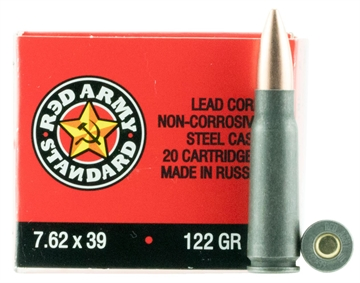 Picture of Red Army Standard 7.62X39mm 122 GR Full Metal Jacket 180 Bx/ 5 CS