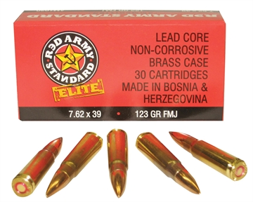 Picture of Red Army Standard Am1930 7.62X39mm 123 GR Full Metal Jacket 30Box/36Case