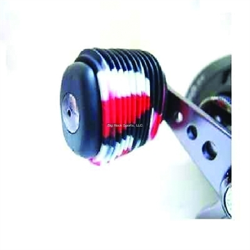 Picture of Reel Grip Slip ON Rubber Reel Handle Knob Cover, 2 Pc, Black/Red