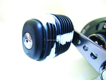 Picture of Reel Grip Slip ON Rubber Reel Handle Knob Cover, 2 Pc, Black/White