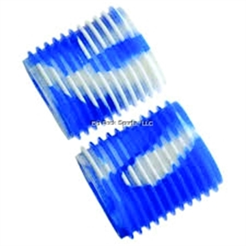 Picture of Reel Grip Slip ON Rubber Reel Handle Knob Cover, 2 Pc, Blue/White