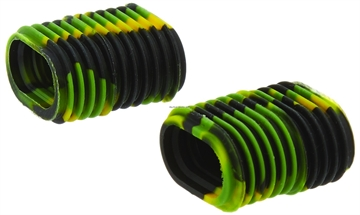 Picture of Reel Grip Slip ON Rubber Reel Handle Knob Cover, 2 Pc, Green/Yellow Tie Dye