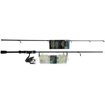 """Picture of Roddy Ready.Set.Fish Bass Combo With 14Pc Tackle Kit,  6'6"""" 2-Pc Rod, 30 Size Reel With 10Lb Line"""