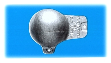 Picture of Roloff Downrigger Ball 8Lb Vinyl Coated Grey