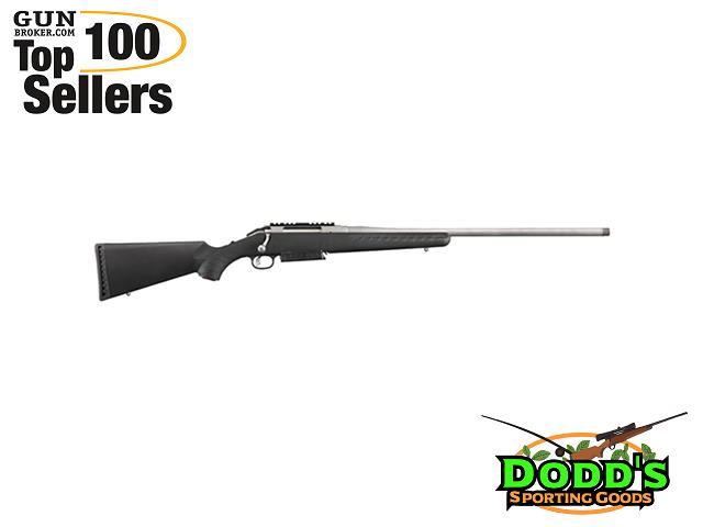 Ruger American 300Win 24 SS Thrd BLK SYN W/ Rail - Bolt Action