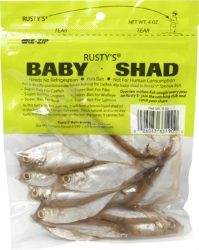 Picture of Rusty's Whole Baby Shad, 4Oz, Natural