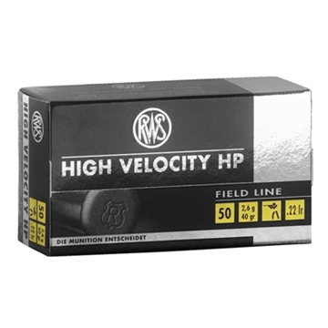 Picture of Rws .22Lr High Velocity 40Gr HP 50/Bx
