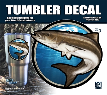 Picture of Salty Bones Cobia Tumbler Decal