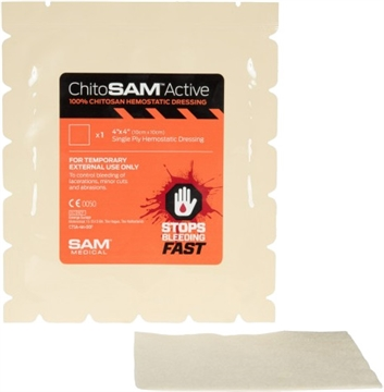 "Picture of Sawyer First Aid Chitosam Bleed Stopper Dressing 4""X4"""