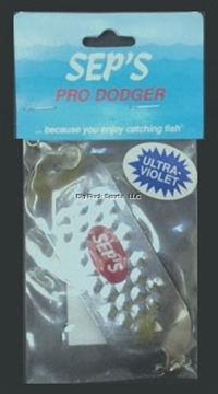 "Picture of Sep's 4/0 Pro Dodger, 1 1/4"" X 4"", UV Silver"