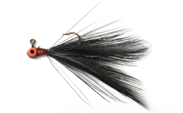 Picture of Shur Strike 00 Feather Jigs W / Accent 1/16 Oz, 2/Pk, Black