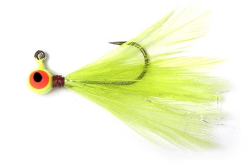 Picture of Shur Strike 00 Feather Jigs W / Accent 1/16 Oz, 2/Pk, Chartreuse
