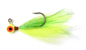 Picture of Shur Strike 00 Feather Jigs W / Accent 1/16 Oz, 2/Pk, Lime / Chartreuse