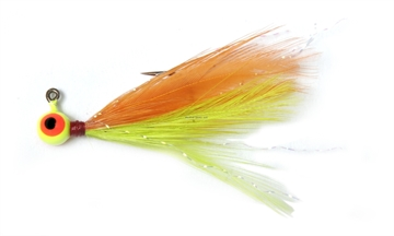 Picture of Shur Strike 00 Feather Jigs W / Accent 1/16 Oz, 2/Pk, Orange / Chartreuse
