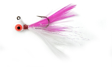 Picture of Shur Strike 00 Feather Jigs W / Accent 1/16 Oz, 2/Pk, Pink / White