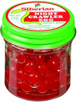Picture of Siberian Nightcrawler Salmon Eggs Red 1.1Oz Jar