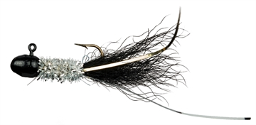 Picture of Slater's Jigs Crappie Jigs, #4 Hook, 1/16 Oz. 12/Cd, Black/Silver/Black