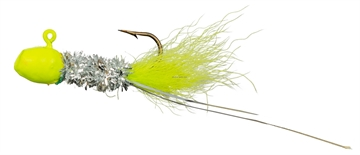 Picture of Slater's Jigs Crappie Jigs, #4 Hook, 1/16 Oz. 12/Cd, Chartreuse/Silver/Chartreuse