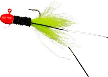 Picture of Slater's Jigs Crappie Jigs, #4 Hook, 1/16 Oz. 12/Cd, Orange/Black/Chartreuse
